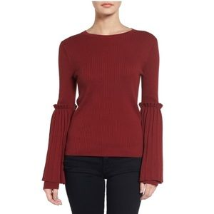 NWT Chelsea28 Ribbed Sweater with Flared Sleeves